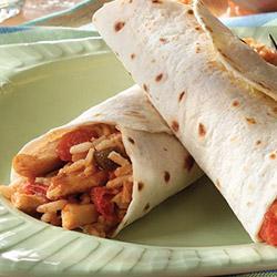 Chicken and Rice Burritos